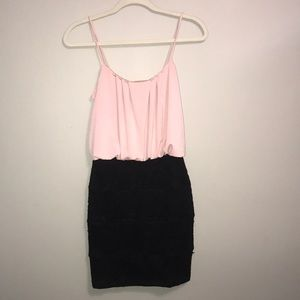 Light Pink and Black Formal Dress